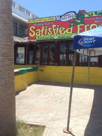 Crazy Ed's Satisfied Frog in rocky Point